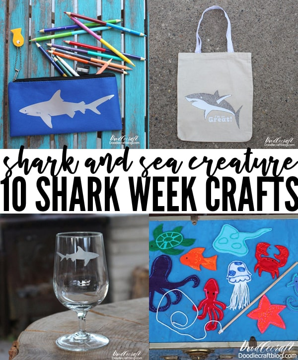 10 Sea Creature Shark Crafts for Shark Week Round Up!