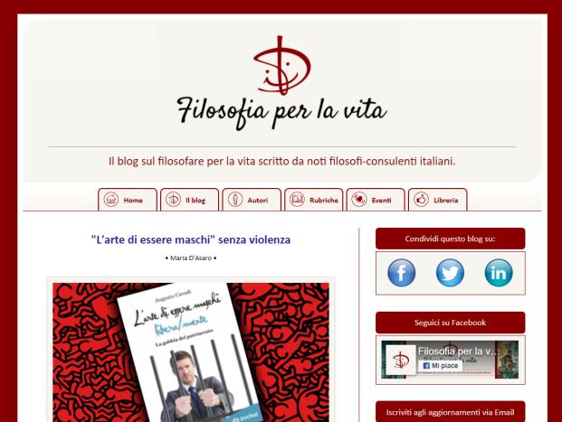 Blog Filosofia per la vita, web design e webmaster: Ricontatto.com