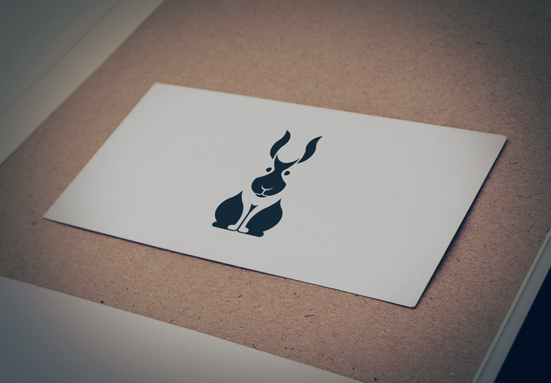Download Free Sitting Rabbits Logo for Business