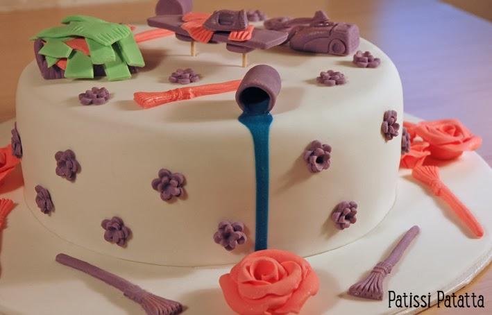 cake design, gâteau 3D, pâte à sucre, gumpaste, fondant, housework cake