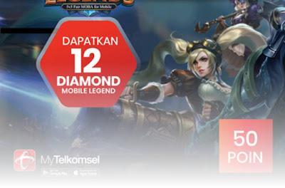 Dapat Diamond Mobile Legends dengan Tukar Poin Telkomsel