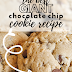 Giant Chocolate Chip Cookie Recipe | (Crumbl copycat)