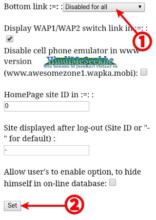 Wapka-website-bottom-link-hide-kaise-kare