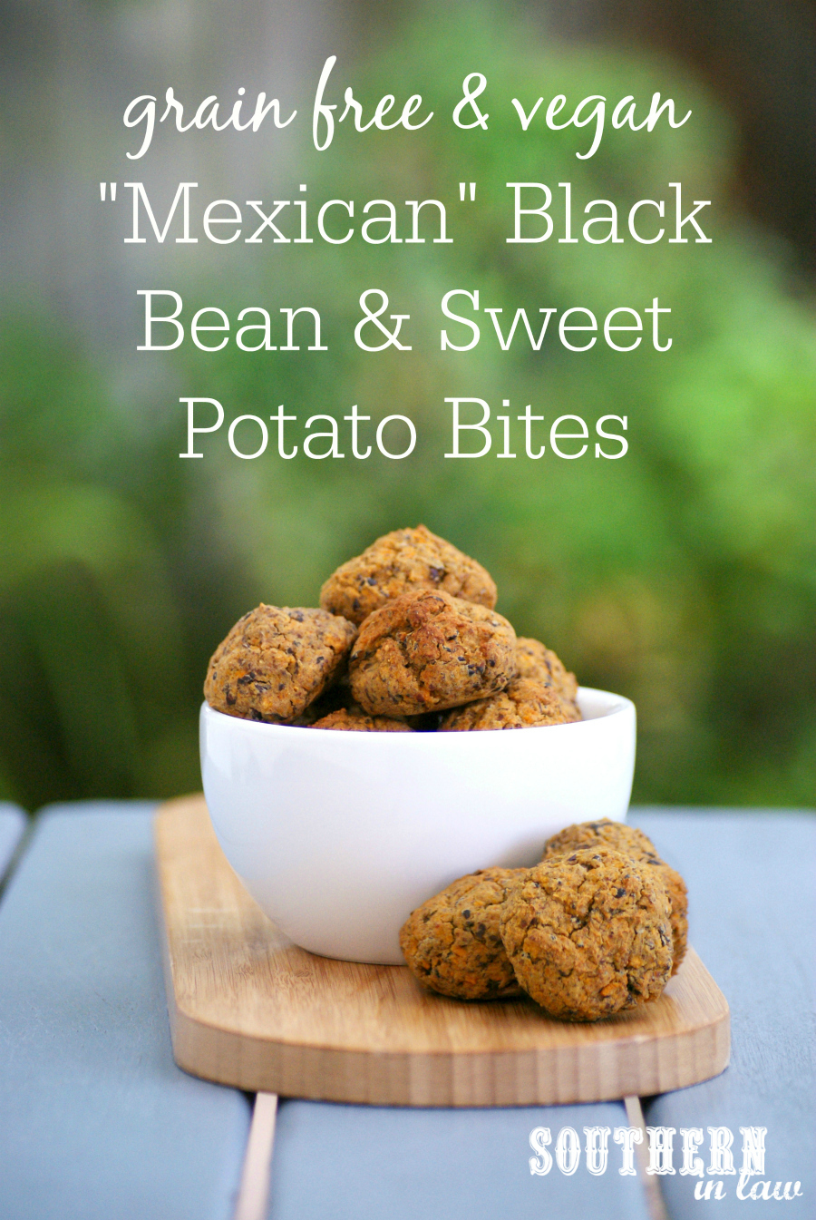 Easy Baked Mexican Black Bean And Sweet Potato Balls Recipe Healthy Gluten Free