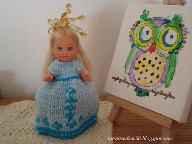 ffee76ff3b Ponieważ sukienka miała być dla 11 cm laleczki to tym razem wymyśliłam