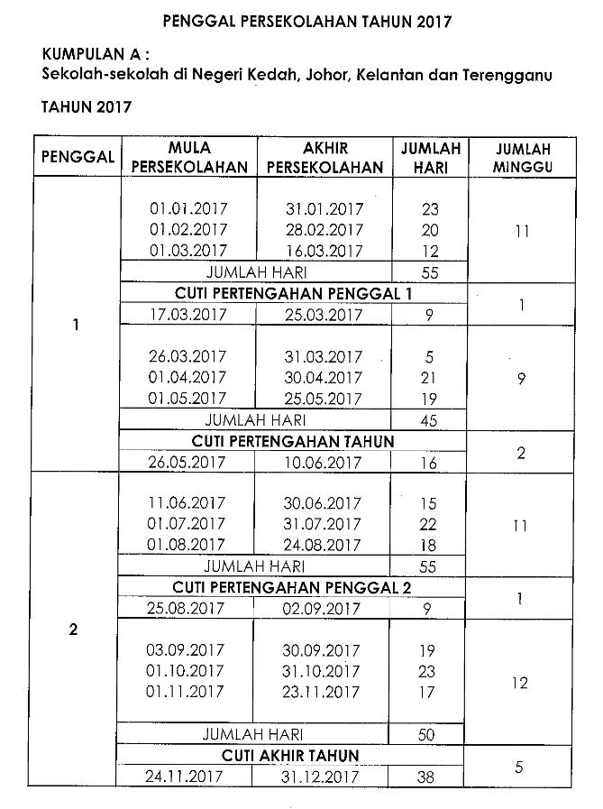 Kalendar 2017 Malaysia