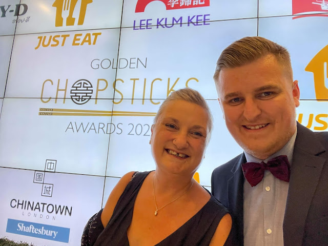 madmumof7 Afra Willmore and son Jacob at The Golden Chopsticks Awards