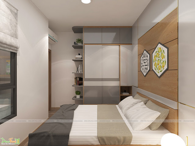 Thiết kế và thi công nội thất căn hộ chung cư Celadon City quận Tân Phú - Phòng ngủ