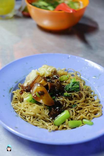 Wantan Mee at Pahang Road, Penang.