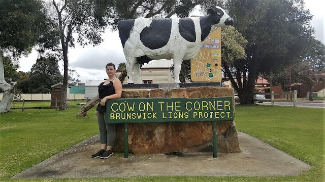 Cow on the Corner Sculpture by Elsie Manning | Brunswick