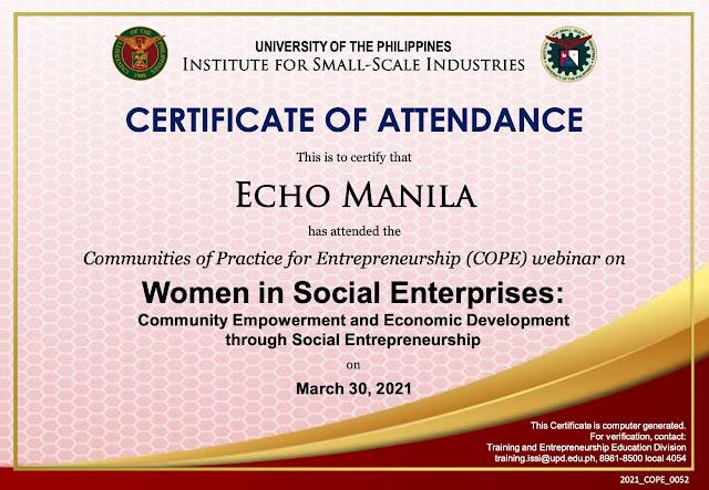 echomanila_women in social enterprises