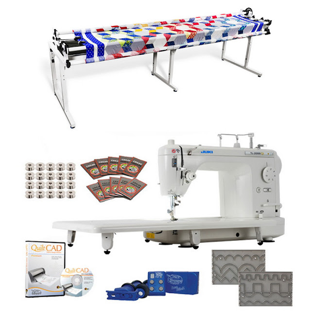 Juki TL-2000Qi Long Arm, Grace Continuum 8ft Quilting Frame,Stitch Regulator & More