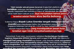 Lukas Enembe Bantah Kabar Undang Masyarakat dan Mahasiswa di Jabodetabek dan Bandung