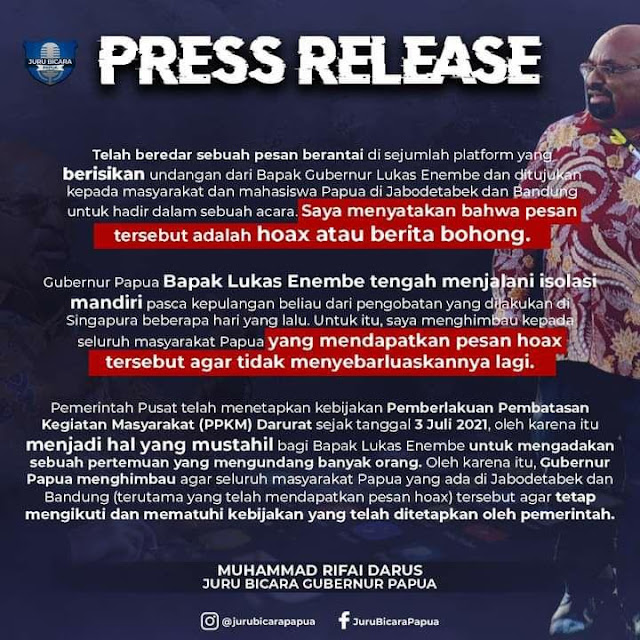 Lukas Enembe Bantah Kabar Undang Masyarakat dan Mahasiswa di Jabodetabek dan Bandung.lelemuku.com.jpg