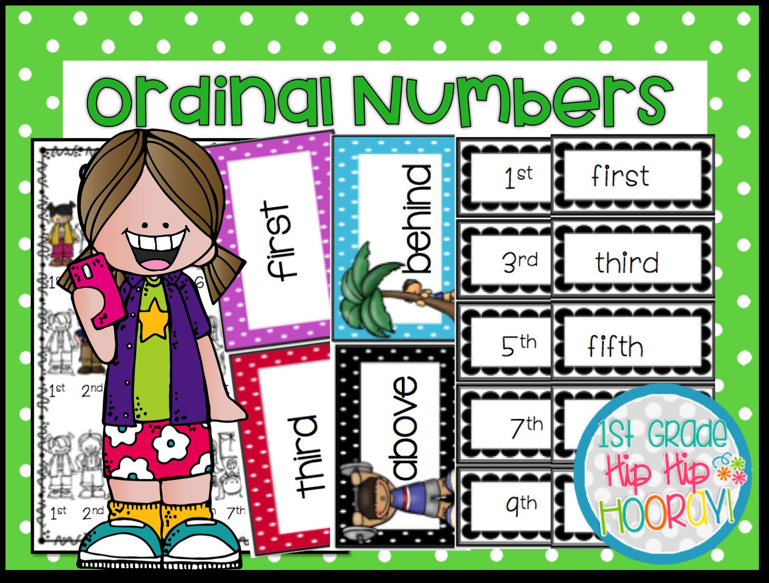 Ordinal Numbers Worksheet Grade 1