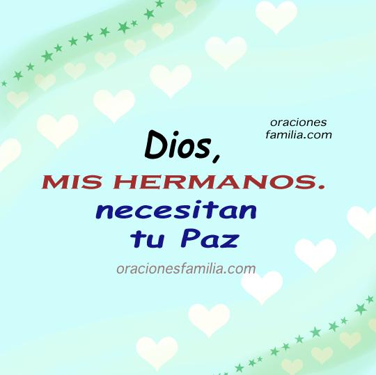 imagen con oracion para mis hermanos paz