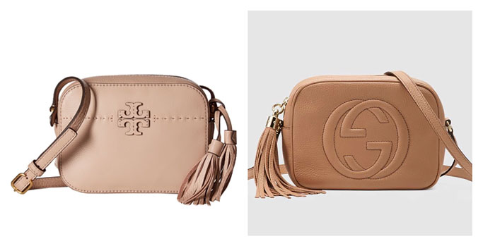 Bag Review Dupe for Gucci Soho Disco Bag in Rose Beige Leather  Tory Burch McGraw Camera Bag in Devon Sand