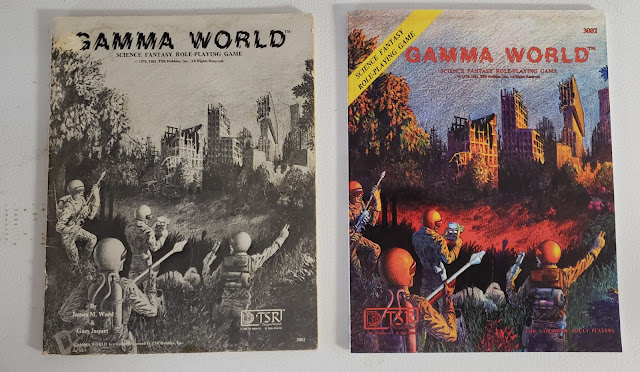 Gamma World original print vs new PoD