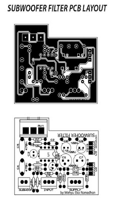 PCB Layout Subwoofer FIlter 4558