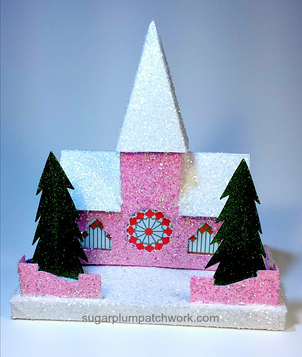 Photo of pink glitter house church