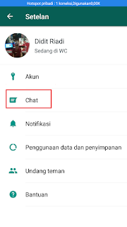 mencadangkan pesan whatsapp