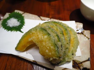 Suju Japanese Restaurant, pumpkin tempura