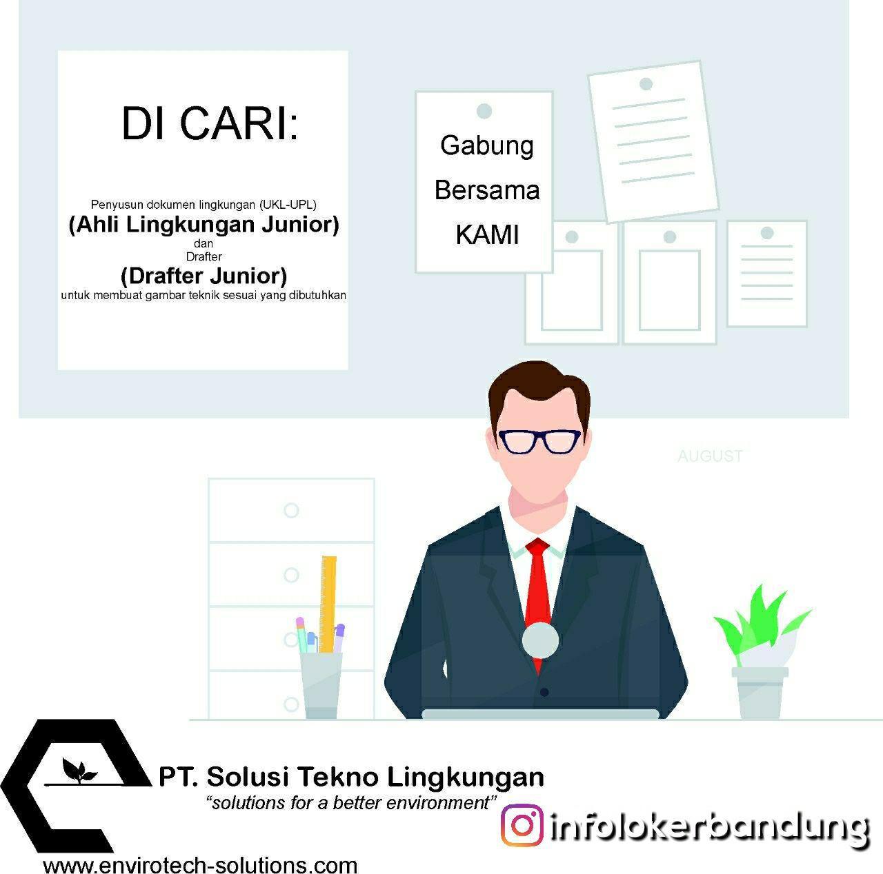 Lowongan Kerja PT. Solusi Tekno Lingkungan Bandung September 2018