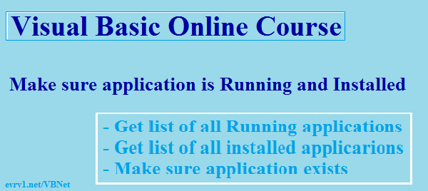 VB 2010 Make sure application is running