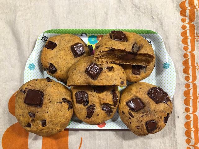 Cookies à la patate douce et aux grosses pépites de chocolat
