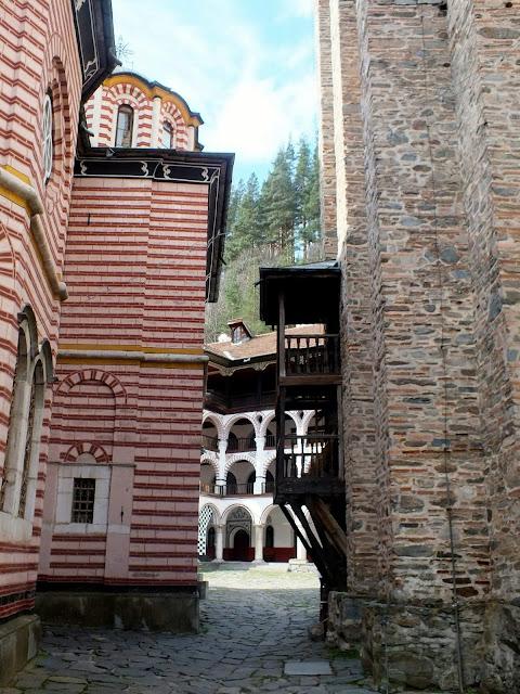 Detalles arquitectónicos del Monasterio de Rila