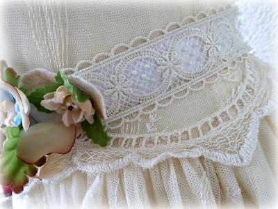 Wedding flower belt side