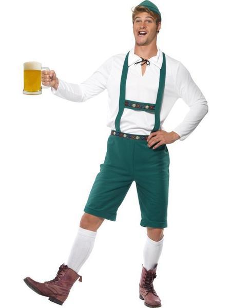 Brad Wurst Lederhosen Oktoberfest Bavarian Beer German Mens Fancy Dress Costume