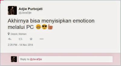 Cara Menyisipkan Emoticon Melalui PC