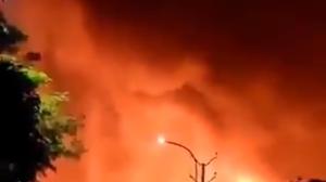 Blast at #Visakhapatnam district.