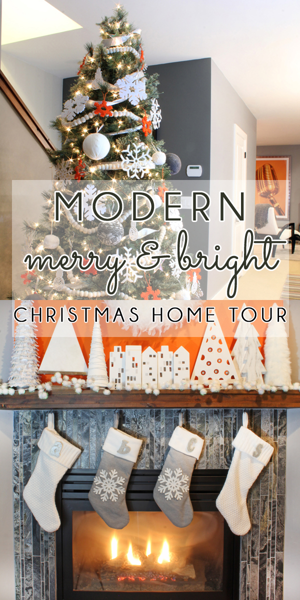 Orange and white Christmas Decor