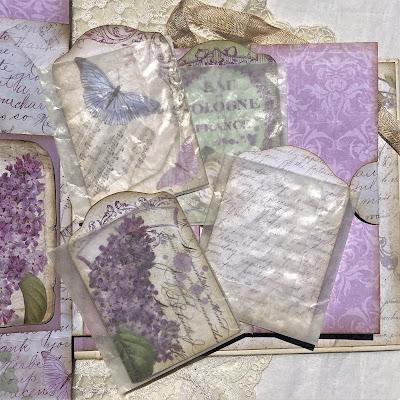 Sara Emily Barker https://sarascloset1.blogspot.com/2019/05/mini-album-tour-featuring-stamperia.html Stamperia Lilac Flowers Tim Holtz Entomology Lace Baseboard Frames Mini Album Tour 34
