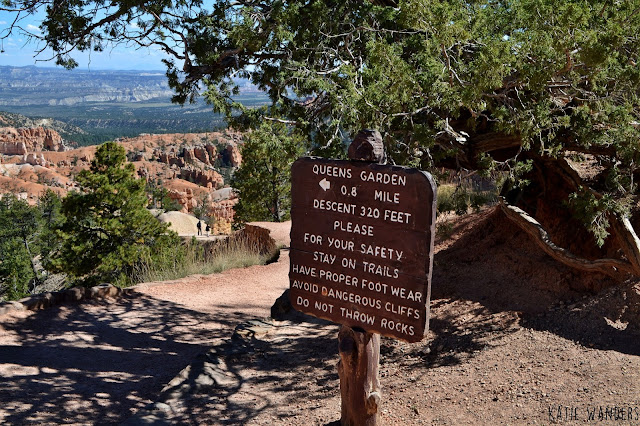 End of the loop hike, Start of Queens Garden Trail, Bryce Canyon National Park