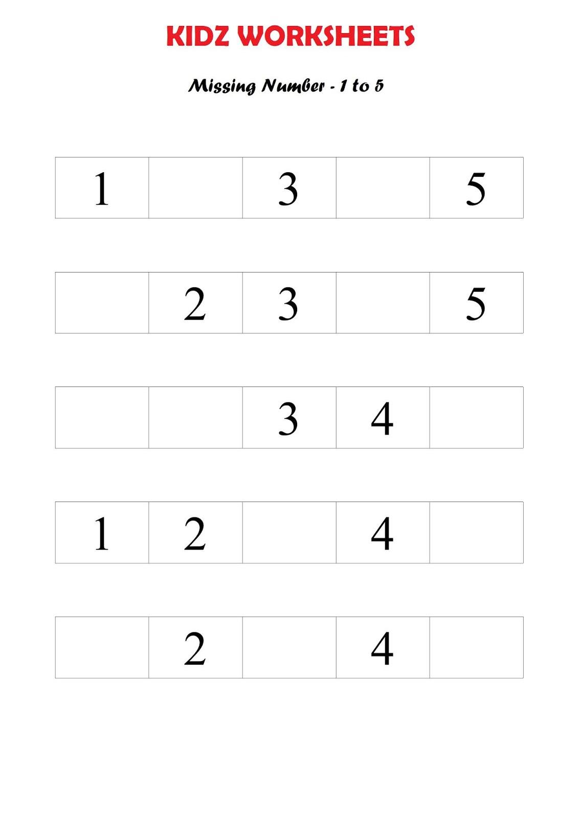 Kindergarten Worksheets Maths Worksheet