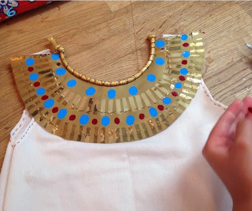 ... involved with her own costume and she had so much fun doing it. We get our vinyl adhesive paper from our local hobbie shop. They sell it by the sheet. & Lena Sekine: Making of Cleopatra costume