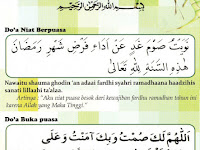 Bacaan Doa Niat Puasa Ramadhan Buka Puasa Arab & Artinya