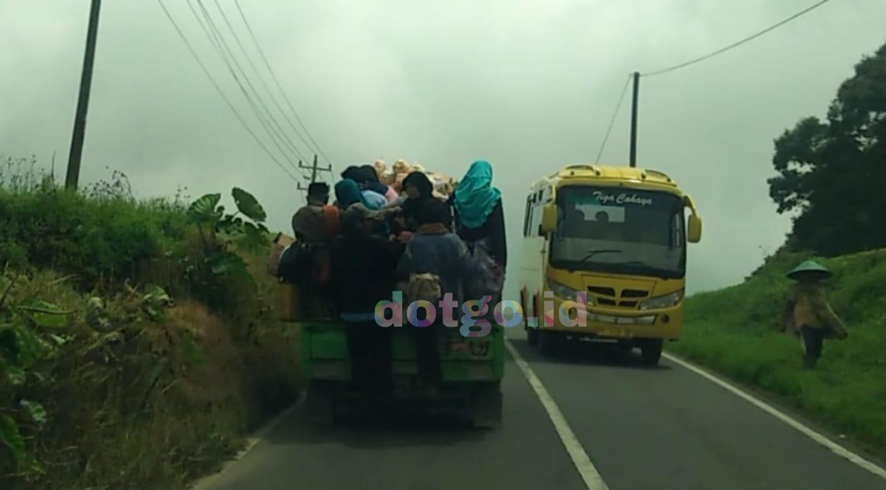 Angkutan Umum Dieng Mobil Bak Terbuka Transportasi Unik Untuk