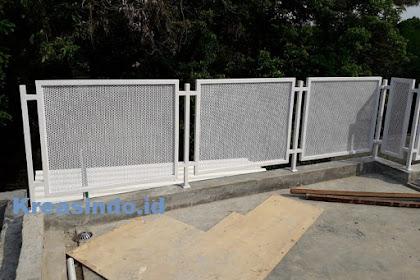 Railing Balkon Besi Plat Perforated pesanan Bpk Abdul di Jagakarsa Jakarta Selatan