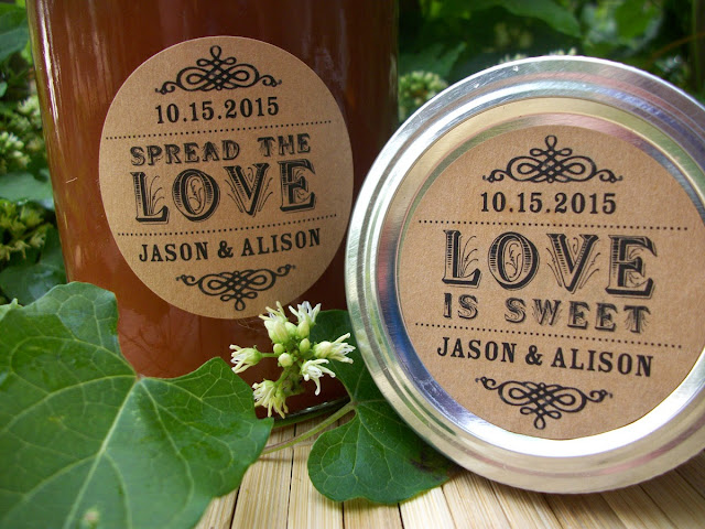 custom wedding favor labels