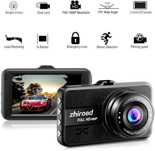 Review zhiroad Dash Cam FHD 1080P Car Camera