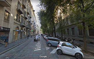 Via Edmondo de Amicis, where Guido Crepax lived