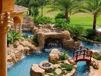 30+ Ide halaman rumah indah dengan kolam air dan taman