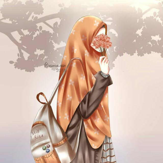 Wallpaper Animasi Hijab Wallpaper Instagram Muslimah