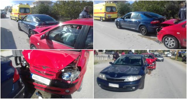 Ήγουμενίτσα: Καραμπόλα 3 αυτοκινήτων χθες το μεσημέρι στην Ηγουμενίτσα (+ΦΩΤΟ)