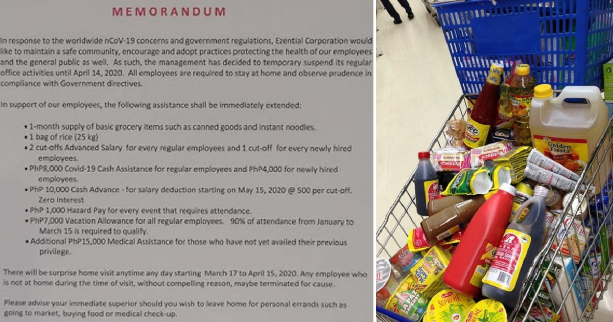 Company praised for free groceries, other impressive employee benefits during lockdown