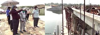করোনা পরিস্থিতিতেও এগিয়ে চলেছে পুনর্ভবা নদীর উপর সমন্বিত পানি নিয়ন্ত্রণ অবকাঠামো নির্মাণ প্রকল্পের কাজ